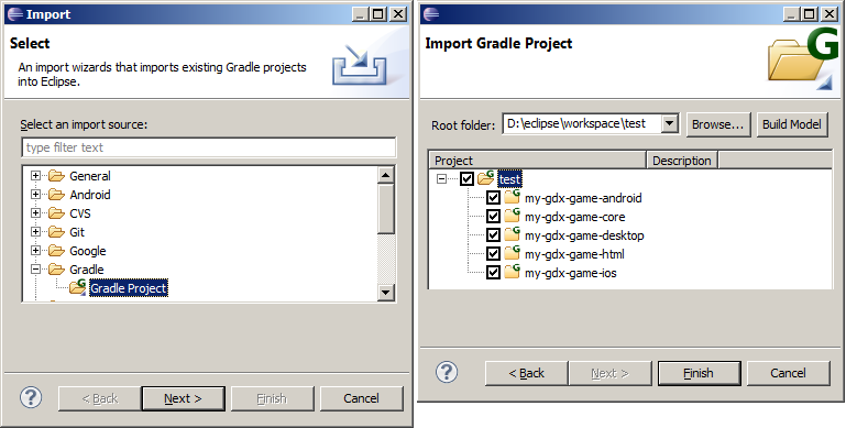 import gradle project