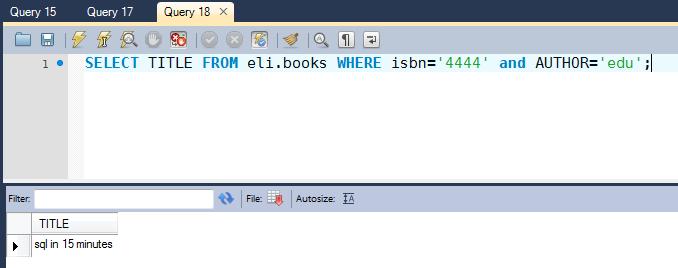 Operadores lógicos SQL AND ,OR con MySql Workbench